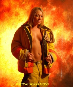 Sexy Fire Coat Babe